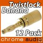 Twistlock 24k Gold Banana Plug 12 Pack