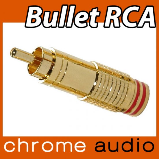 Bullet RCA Plug 24k Gold Plated - Click Image to Close