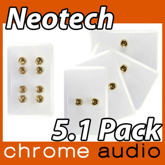 Neotech 4 Speaker Wall Plate 5.1 VALUE PACK - Click Image to Close