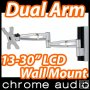 "13-30"" LCD Monitor Dual Pivot Wall Mount Bracket 15kg"